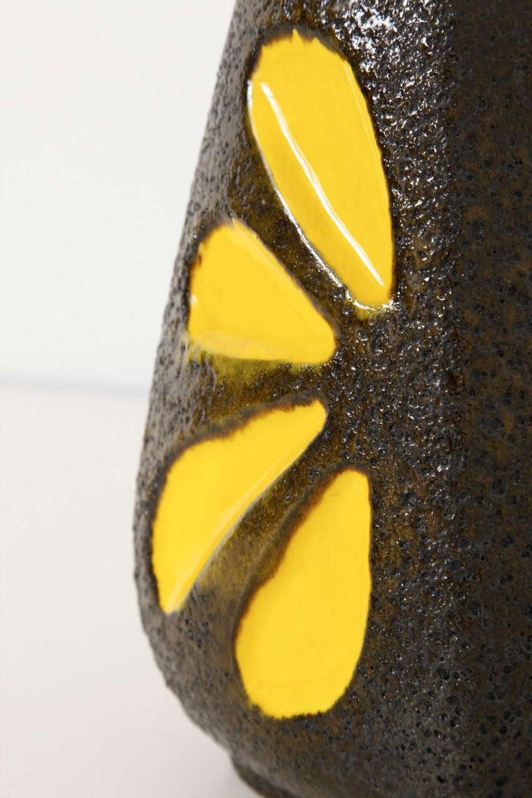 Glazed Pop-Art Fat Lava Ceramic Vase Germany designed by Emons and Sohne Germany For Sale