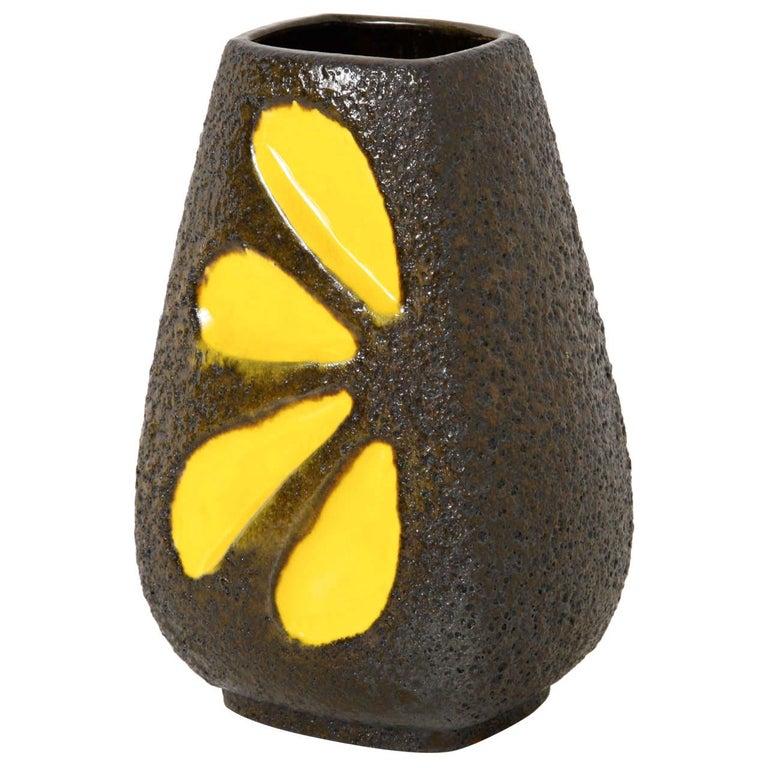 Pop-Art Fat Lava Ceramic Vase Germany designed by Emons and Sohne Germany For Sale