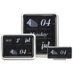 Pop Art Font Clock Set 3 Sizes - Calendar + Flip Typeface by Established & Sons