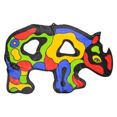 Pop Art Niki de Saint Phalle Inflatable Plastics Rhino Collectibles, France 1999