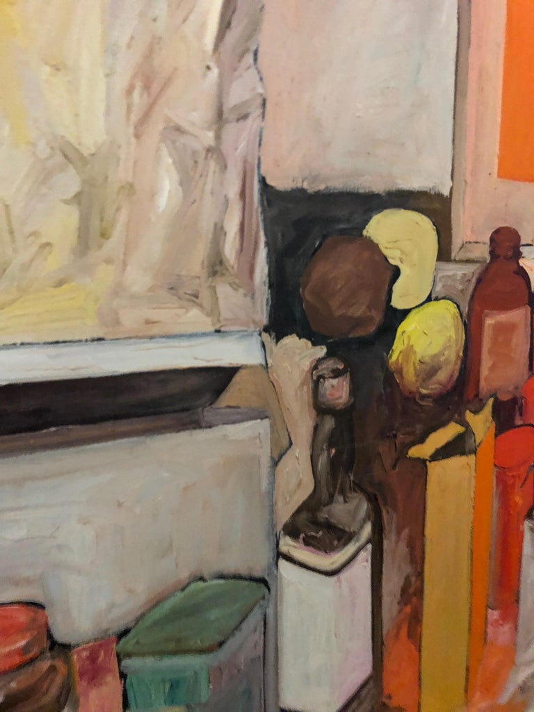 Expressionist Pop Art Oil on Canvas Untitled Still-Life Painting by Salvatore Grippi 1970 For Sale