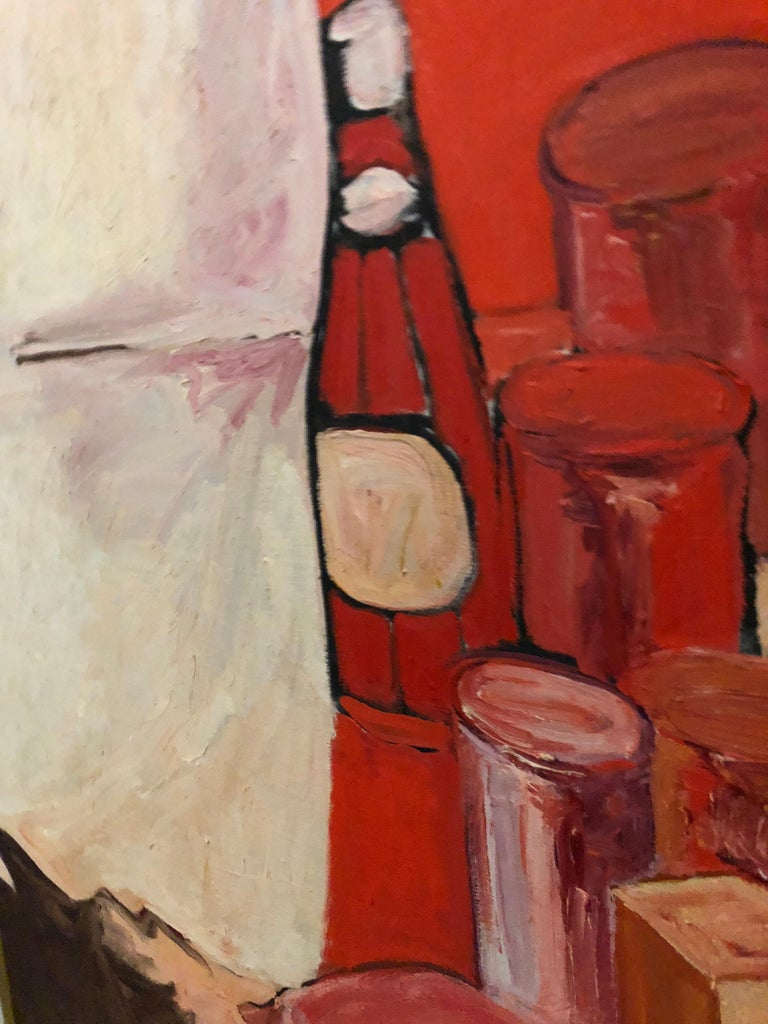 Pop Art Oil on Canvas Untitled Still-Life Painting by Salvatore Grippi, 1970 In Good Condition For Sale In Brooklyn, NY