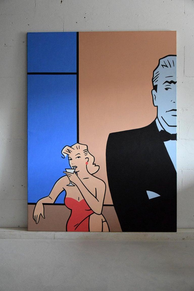 Dutch Pop Art painting by Luc Verschuuren, 2001 For Sale