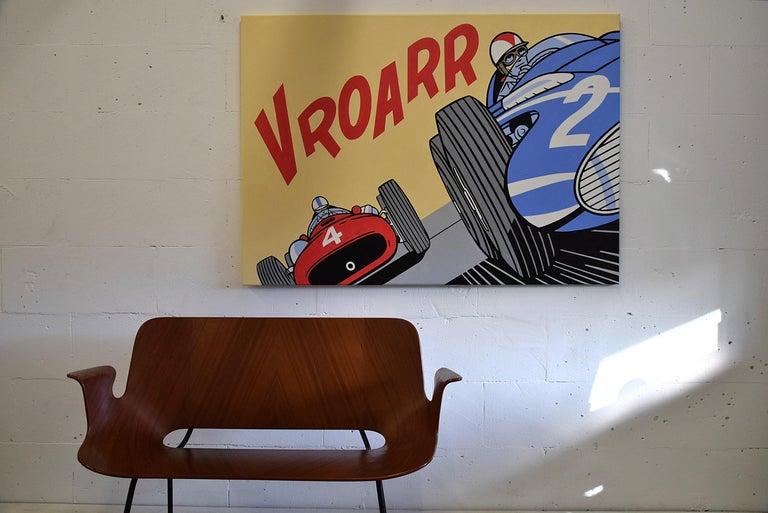 Pop Art Painting by Luc Verschuuren Vroarr Revisited For Sale 2