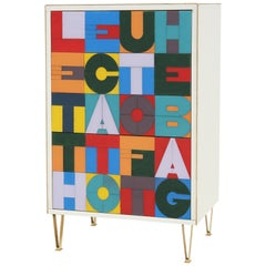 "Pop Art Sideboard ""Conversation Pieces"" Designed by Michele Dal Bon"
