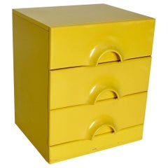 Pop Art Vintage Yellow Chest of Drawers, circa 1970, Italy