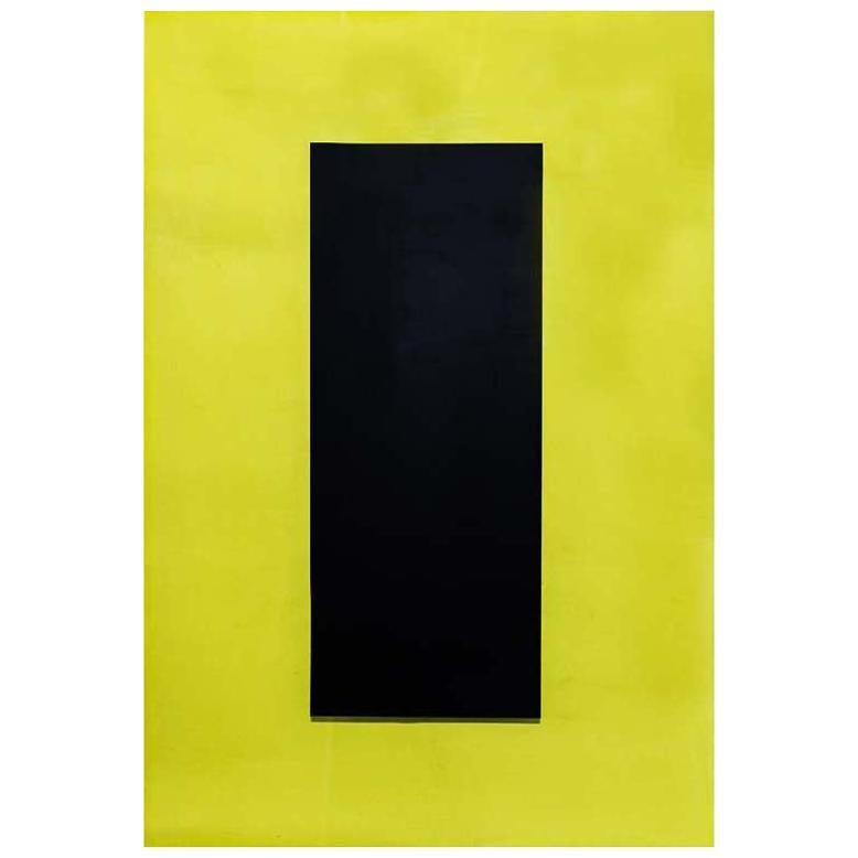 Pop Art Yellow and Black Perspex Light Panel by Johanna Grawunder Italian Design