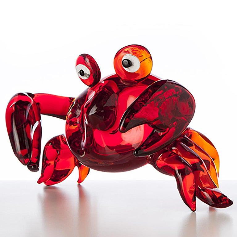 Modern Pop Comic Artistic Murano Glass Sculpture For Sale
