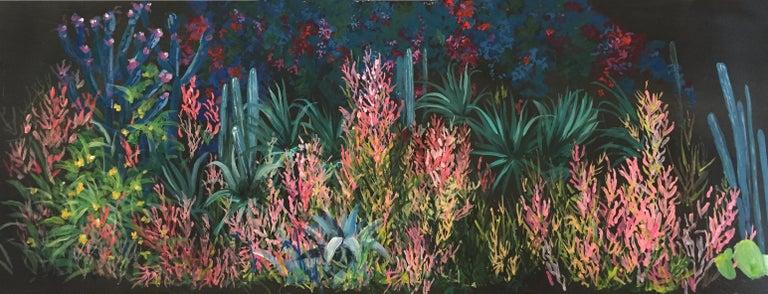 Italian Pop Garden, Hand Painted Wallpaper For Sale
