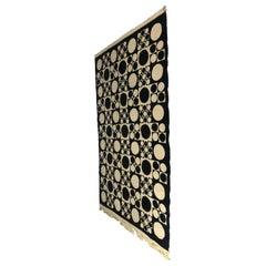 Pop Modernist Geometric Designed Rug Hanging by Verner Panton
