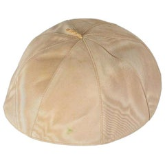 Pope Pius XII Personally Owned and Worn Cloth Skullcap, Cream, 1940s-1950s
