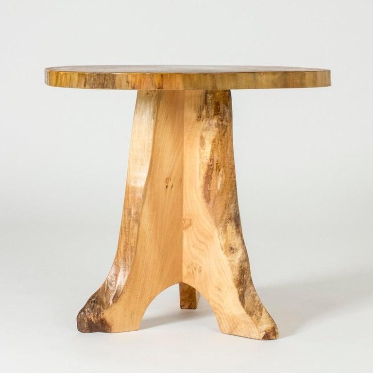 Scandinavian Modern Poplar Occasional Table by Sigvard Nilsson for Söwe-Konst, Sweden, 1960s For Sale