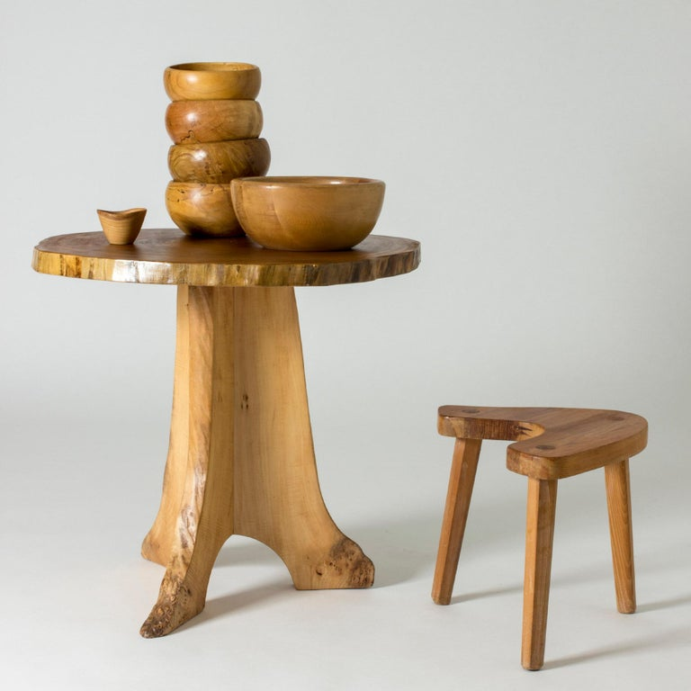 Poplar Occasional Table by Sigvard Nilsson for Söwe-Konst, Sweden, 1960s In Excellent Condition For Sale In Stockholm, SE