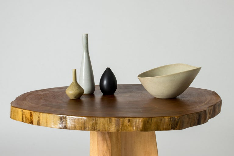 Poplar Occasional Table by Sigvard Nilsson for Söwe-Konst, Sweden, 1960s For Sale 3
