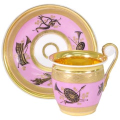 Popov Cup and Saucer, circa 1820