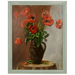 Poppies Still Life Painting, 1953