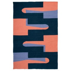 Popsicle Rug Flat Hand-Woven Contemporary Geometric Shape Tapestry Wall Hanging