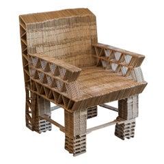Popsicle Stick Tramp Art Chair
