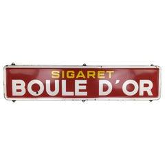 Porcelain Advertising Sign Boule d'Or Cigarettes, 1954, Belgium
