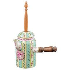 Porcelain and Wood Chocolate Pot, Sèvres, France, 19th Century