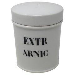 Porcelain Apothecary Jar