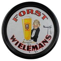 Porcelain Beer Tray for Belgian Beer, Brewery Wielemans, Ceuppens, Brussels