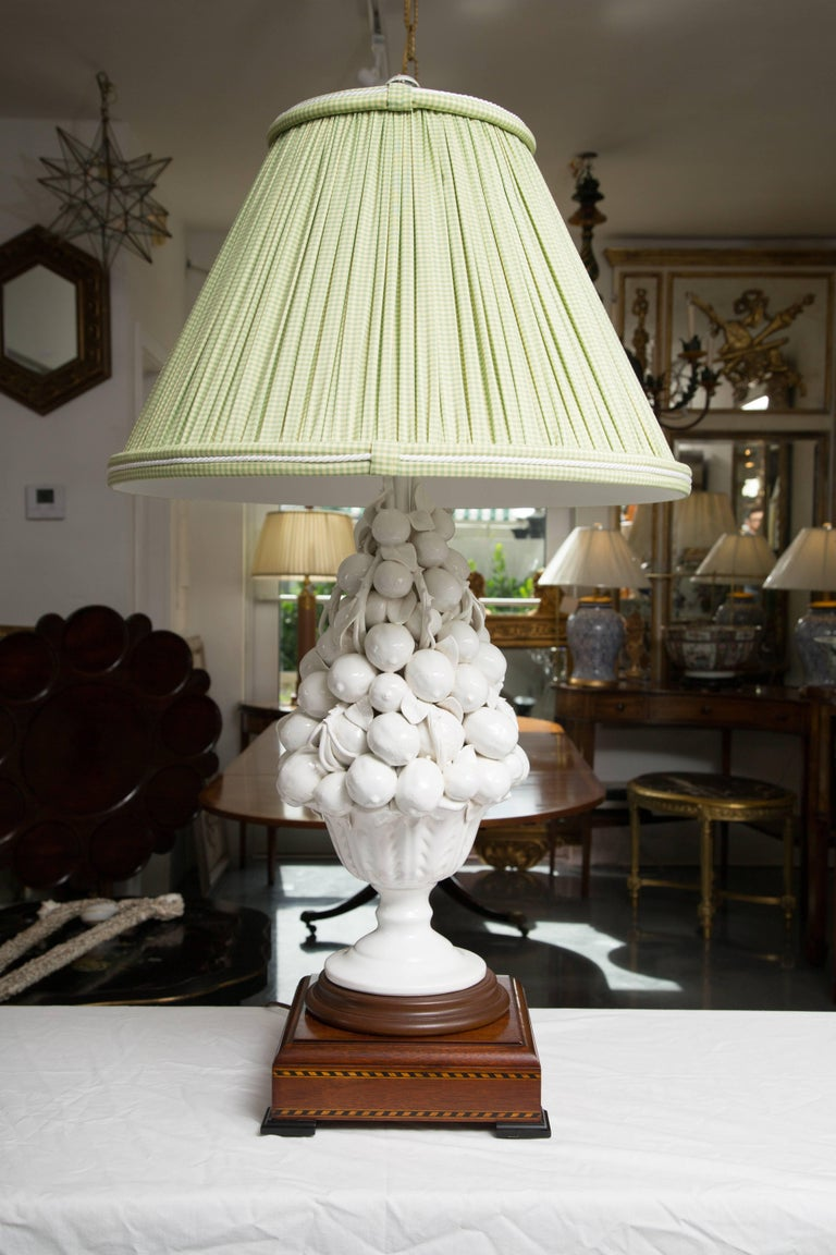 Porcelain Blanc de Chine Lemon Cluster in Urn as Table Lamps For Sale 2