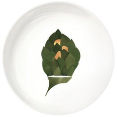 """Porcelain Bowl by the French Chef Alain Passard Model """"Artichoke with Orange"""""""