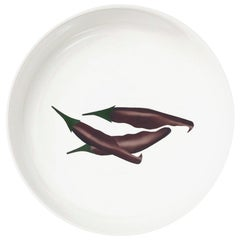 """Porcelain Bowl by the French Chef Alain Passard Model """"Peppers"""""""