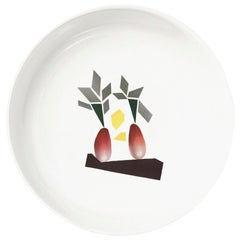 """Porcelain Bowl by the French Chef Alain Passard Model """" Radishes"""""""