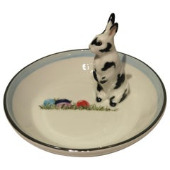 Porcelain Bowl Hand Painted Easter Rabbit Figure Sofina Boutique Kitzbuehel