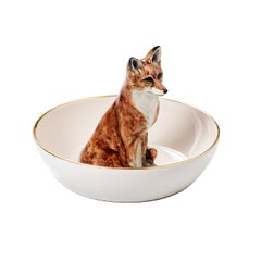 Porcelain Bowl with Fox Figure Sofina Boutique Kitzbuehel