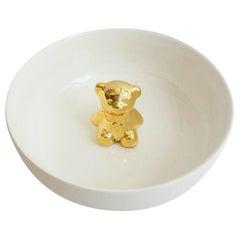 Porcelain Bowl with Golden Bear