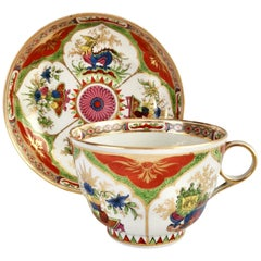 Porcelain Breakfast Cup Chamberlains Worcester, Dragons in Compartments
