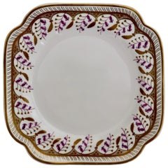 Porcelain Cake Plate, Spode Felspar, White with Harebell Pattern, Regency, 1826