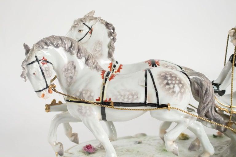 Napoleon III Porcelain Carriage, Brand below, German Porcelain For Sale