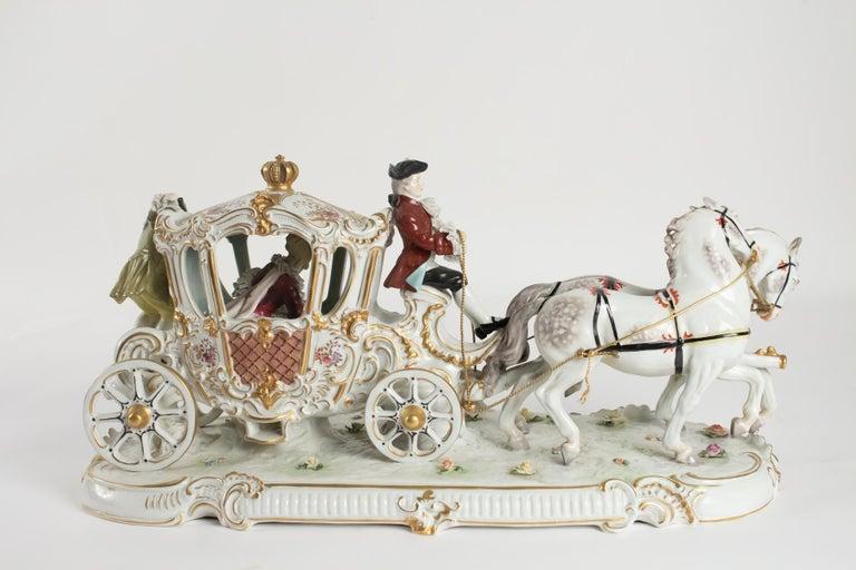 Porcelain Carriage, Brand below, German Porcelain For Sale 2