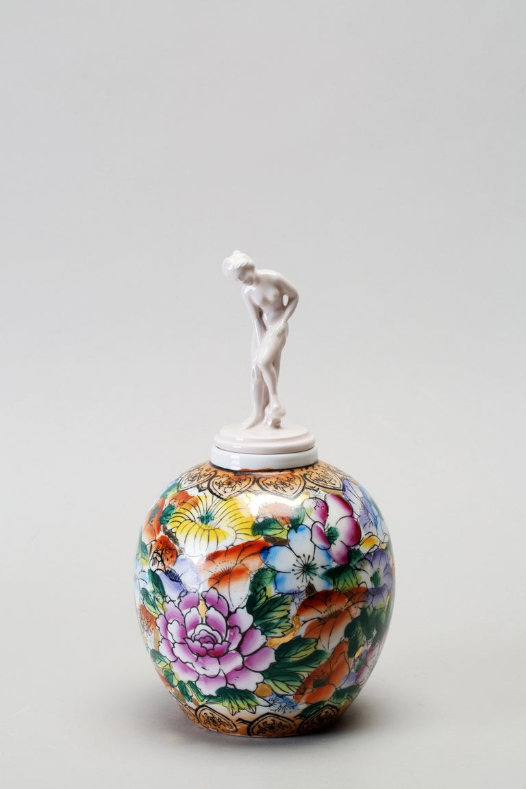 Classical Greek Porcelain & Ceramic Sculptural Vase Italy Contemporary, 21st Century For Sale