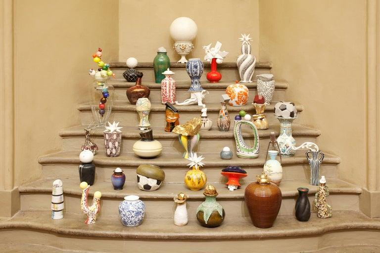 Glazed Porcelain & Ceramic Sculptural Vase Italy Contemporary, 21st Century For Sale