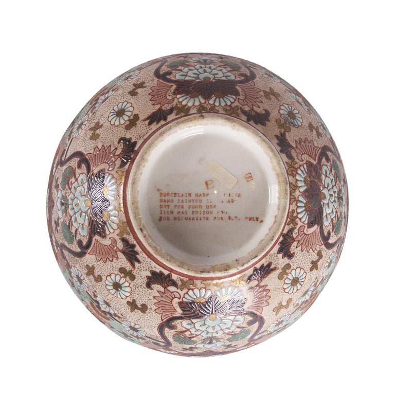 Women's or Men's Porcelain Chinese Imari Style Bowl For Sale