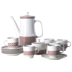Porcelain Coffee Set, Czechoslovakia, circa 1960