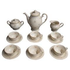 Porcelain Coffee Tea Service, Giesche, Germany, circa 1930/40