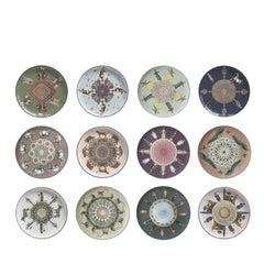 Porcelain Constantinople Set of 12 Dessert Plates