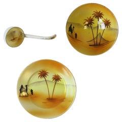 Porcelain Desert Palm Serving Set