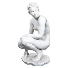 "Porcelain Figure ""Crouching"" Fritz Klimsch for Rosenthal, Germany, 1907-1956"