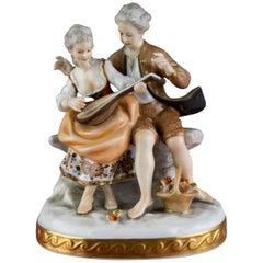Porcelain Figurine Musicians from Unterweißbacher Werkstätten für Porzellankunst