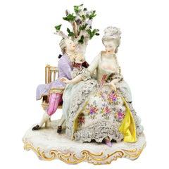 Porcelain Figurine of a Couple German, 19th Century