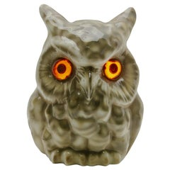 Porcelain Figurine Owl, Table Lamp, 'Carl Scheidig Gräfenthal', Germany, 1930s