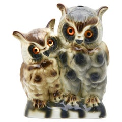 Porcelain Figurine Owls Chicks Perfume Lamp, Gräfenthaler Porzellan, Germany