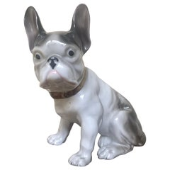 Porcelain French Bulldog, Art Deco